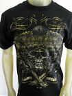Gold Foil Mexican Sombrero Skull guns tee shirt men's black Choose A Size
