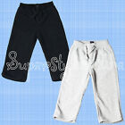 Baby Boys Joggers Soft Fleecy Wide Bottoms Size 6-12 Months Grey & Navy
