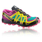 Salomon Fellraiser Womens Purple Yellow Severe Trail Running Shoes Trainers