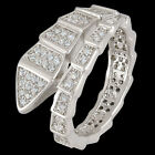 Fashion Snake Cocktail Finger Ring High Quality Clear Zircon Sz 7/8/9 Men Women