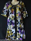 NEW Purple Floral Keyhole Beaded Dress 1X 2X 3X Womens Plus Cruise Party Spring