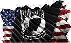 "American POW MIA flag rv motorhome trailer vinyl graphic decal mural 36""H"