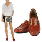 $575 GUCCI LOAFERS 1953 HORSEBIT SHOES ROSE BED LEATHER HORSEBIT DETAIL