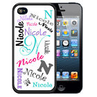 PERSONALIZED RUBBER CASE FOR iPHONE X 8 7 6 5 5c SE WHITE NAME ALL OVER