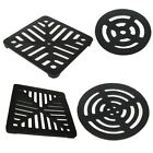 New Black Square Round Cast Iron Gully Grid Grate Heavy Duty Drain Cover Outdoor