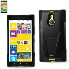 Reiko Nokia Lumia 1520 Heavy Duty Dual-Layer Hybrid Armor Case with Kickstand