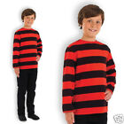 Boys Book Week Fancy Dress Costume Dennis Red and Black Striped Top Comic Book