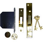 """Kitemarked 6 Lever Mortice Dead Lock Brass & Silver - Available in 2.5"""" & 3"""""""