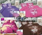 Stylist Design Butterfly Duvet Quilt Cover with Pillow Case Bedding Set All Size