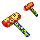 Inflatable Mallet Hammer Smiley 48CM Large Colorful Kids Play Soft Fancy Toy