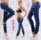 New Sexy Womens Designer Ripped Jeans Size 6 8 10 12 14 Skinny Distressed Denim
