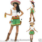 CL290 Tequila Shooter Girl Sombrero Mexican Women Ladies Fancy Adult Costume