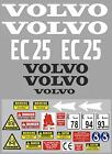 Decal Sticker Graphics set for VOLVO EC25 Mini Digger Bagger Autocollant
