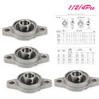 FL001 12mm Self Aligning Two Bolts Mount Flanged Ball Bearings 1 or 2 or 4pcs