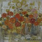 "AR007 Orange Flowers III Alan Hopfensberger 18""x18"" framed or unframed print"