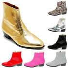 Epicsnob Mens Shoes Genuine Cow Leather Dress Ankle Boots Silver Gold Black