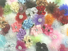 CRAFT FLOWERS -  HAND MADE RIBBON FLOWER EMBELLISHMENTS BOWS APPLIQUES SEWING