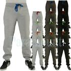 Contrast Waist Cord Cuffed Fleece Jogging Bottoms  Mens Size
