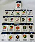 25 mm Button Badge Weed Leaf Cannabis Accessorize Hats Trilby Handbags Ties