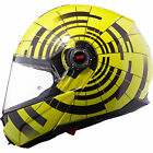 LS2 FF386 ABYSS MOTORCYCLE FLIP FRONT SHARP 4****HELMETS PINLOCK READY YEL NEW
