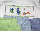 Boys smocked Tee Shirt Wiggly BUGS 2T Short Set Worms New Vive La Fete summer