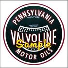 Valvoline 'F' Motor Oil Magnets Vinyl Stickers Decals Motor Oil Gas Globes