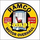 Ramco Piston Rings Magnets Vinyl Stickers Decals Motor Oil Gas Globes