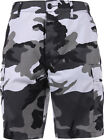 Mens City Camouflage Military BDU Cargo Shorts