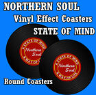 NORTHERN SOUL (RECORD VINYL EFFECT) - SETS OF 4, 6 OR 8 - GIFT/ EASY CLEAN