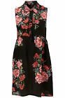 TOPSHOP BOUTIQUE BLACK FLORAL  ROSE PRINT SILK DRESS BNWT