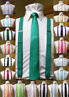 Matching skinny tie and suspenders set men's clip-on x back longer necktie prom