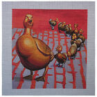 "Needlepoint canvas ""Boston Bronze Duckling"""