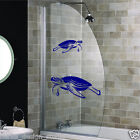 Turtle Stickers/2 stickers with turtles / Shower Screen Stickers /Waterproof S64