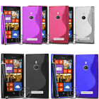 S LINE GEL GRIP RUBBER SILICONE CASE COVER FLIP ACCESSORIES FOR NOKIA LUMIA 925
