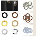 10 x 42mm Plastic Curtain Eyelets and Rings Clips Grommets - Silver or Gold - UK
