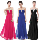Long Hot Pink  Simple Long Ladies Bridesmaid Evening Gown Formal New Dress 09915