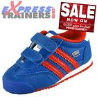 Adidas Originals Infants Toddlers Dragon CF Velcro Trainers Blue * AUTHENTIC *