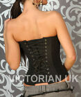 Authentic Victorian Style FULL STEEL BONED TIGHT LACING satin corset all sizes
