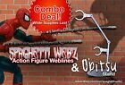 Spaghetti Webz & Obitsu Action Figure Stand Combo - Marvel Legends Spider-Man