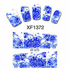 Nail Wraps Nail Art Decals Water Transfers China Blue Lily Salon Quality XF1372
