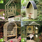 NEW WOODEN GARDEN ARBOUR SEAT MC2