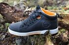GURU All Weather Match Fishing Trainers Black & Orange White Sole