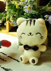 Cute Cat plush toy Key Chain Charm stuffed animal with suction cup Kawaii Cute