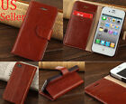 Luxury Genuine Real Leather Flip Stand Wallet Case Cover For iPhone 4 4S 5C 5S