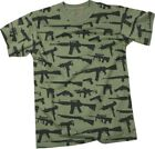 Olive Drab Guns & Rifles Vintage Short Sleeve T-Shirt