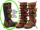 Womens Steampunk Pockets & Buckles Boots Black Size 7 8 9  10 11 SUPER CUTE!