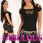 NEW SEXY WOMEN'S TOP SIZE 6-8-10 PARTY CASUAL HOTTEST RIPPED CLUBBING  WEAR S M