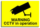 WARNING CCTV IN OPERATION SIGN PLAQUE NOTICE 9067