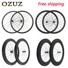 Lightweight Carbon Wheels Road Bike Wheels 50mm Clincher Bicycle Wheelset 700c