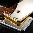 Luxury Aluminum Ultra-thin Mirror Case Cover Back for iPhone 5 6 4.7  Plus 5.5